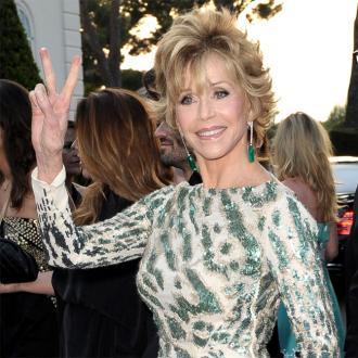 Jane Fonda Honoured At Cement Ceremony