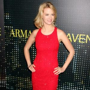 January Jones Enjoys Paparazzi Protection
