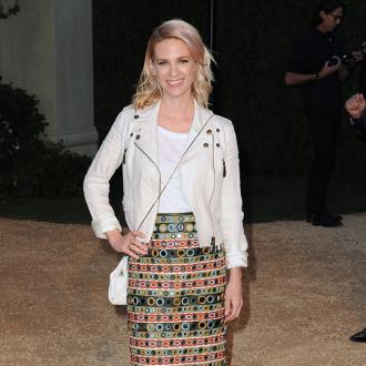 January Jones nearly gave birth at NKOTB concert