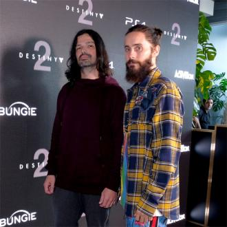Jared Leto rocks out at Destiny 2 launch