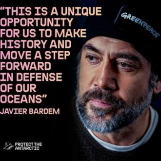 Javier Bardem dives to bottom of Antarctic Ocean for Greenpeace