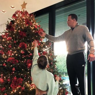 Jennifer Lopez And Alex Rodriguez Decorate Their Christmas Tree