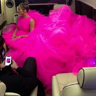 Jennifer Lopez's Dress Was So Big It Needed Its Own Seat