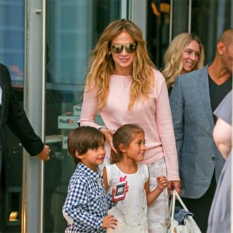 Jennifer Lopez And Marc Anthony Reunite For Kids' Party