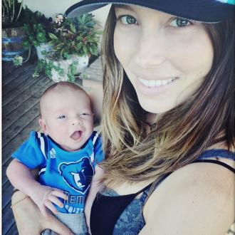 Jessica Biel having fun weaning son