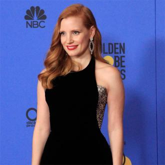 Jessica Chastain wins award for not blinking