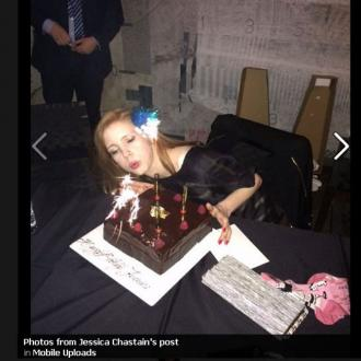 Jessica Chastain Celebrates Birthday With Friends