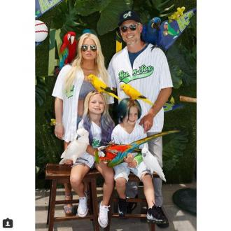 Jessica Simpson throws baseball and parrot birthday party for son