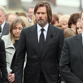 Jim Carrey Attends Cathriona White's Funeral Service