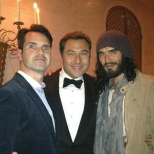 David Walliams Celebrates Birthday With Russell Brand