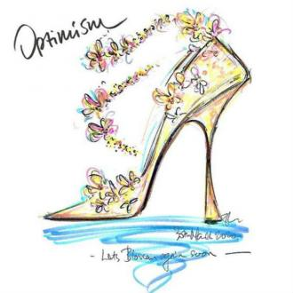 Jimmy Choo's shoe sketch competition