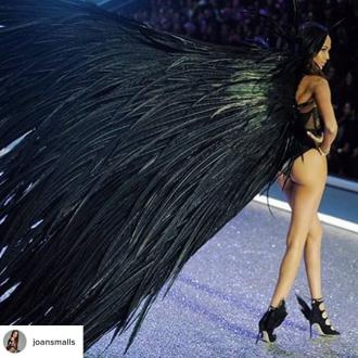 Joan Smalls wore 'the longest wings' in Victoria's Secret Fashion Show