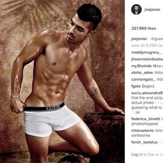 Joe Jonas is the new global ambassador for Guess Underwear