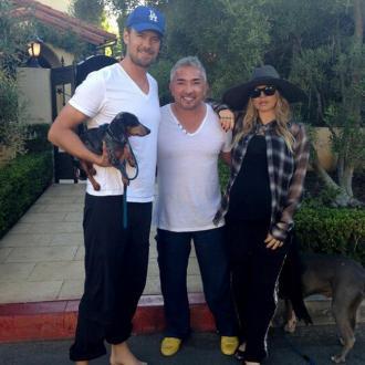 Josh Duhamel and Fergie visit dog whisperer