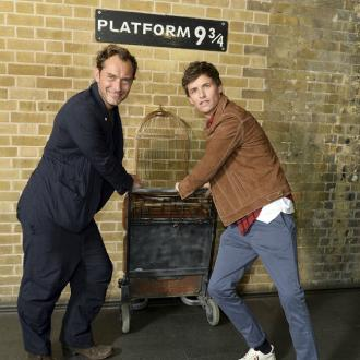 Eddie Redmayne And Jude Law Celebrate Back To Hogwarts Day In London