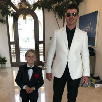 Robin Thicke took son to Grammys