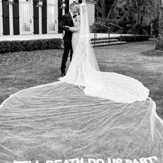 Hailey Bieber's Wedding Dress Designed By Virgil Abloh