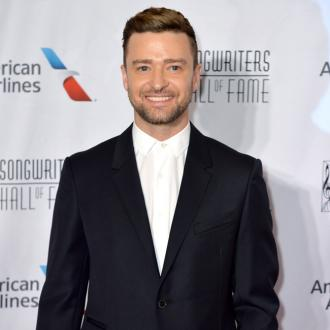 Justin Timberlake tackled by prankster at PFW
