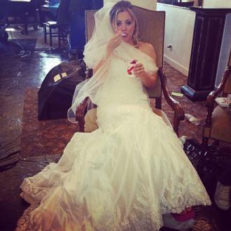 Kaley Cuoco Causes 'Stir' With Wedding Dress Photo