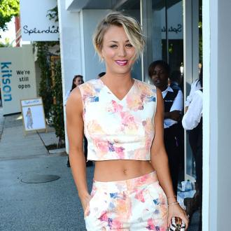 Kaley Cuoco Is Practicing Being A Mother On Dogs