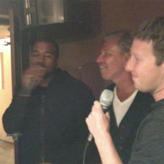 Kanye West and Mark Zuckerberg do karaoke