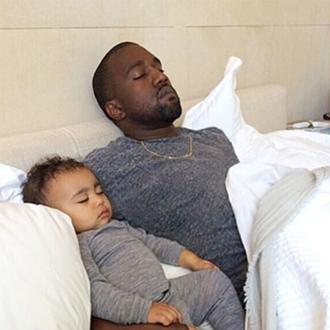 Kanye West Brings Daughter To Recording Studio