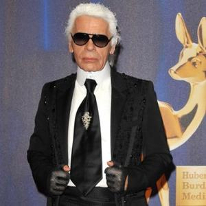 Karl Lagerfeld Designs With Feathers