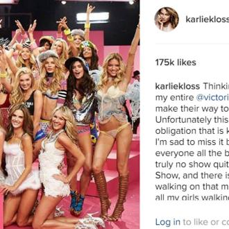Karlie Kloss is 'sad' she's missing out on Victoria's Secret show