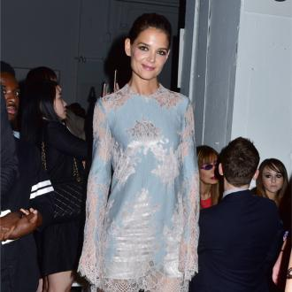 Katie Holmes supports Jamie Foxx at launch