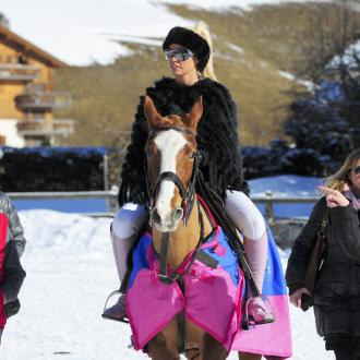 Katie Price Enters Horse Show