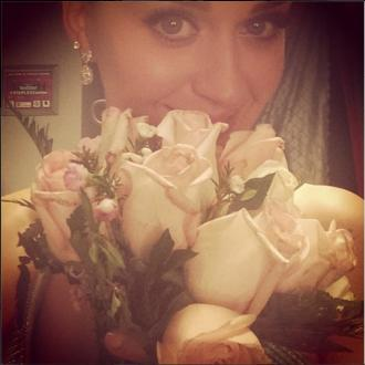 Katy Perry Catches Wedding Bouquet