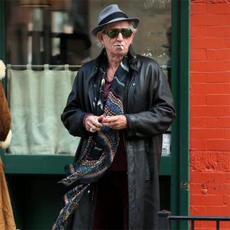 Keith Richards Has Rain-stopping Stick