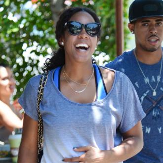 Kelly Rowland's intense post-pregnancy workout