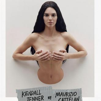 Kendall Jenner models as 'Trophy Wife' for Maurizio Cattelan
