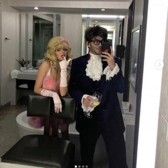 Kendall Jenner inspired by Austin Powers for Halloween
