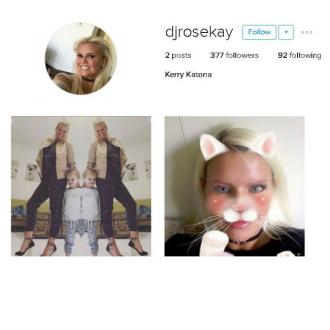 Kerry Katona joins Instagram