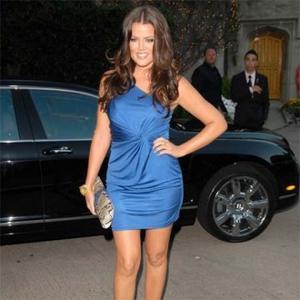 Happy Eater Khloe Kardashian