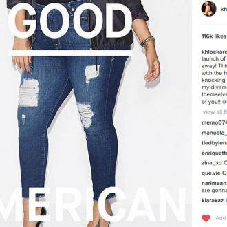 Khloé Kardashian 'can't believe' she will launch her first denim collection for Good American tomorrow
