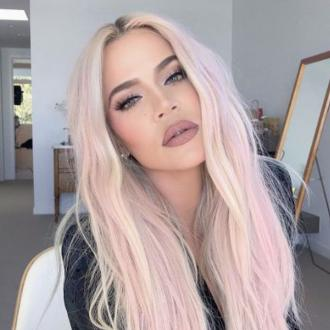 Khloe Kardashian is pretty in pink