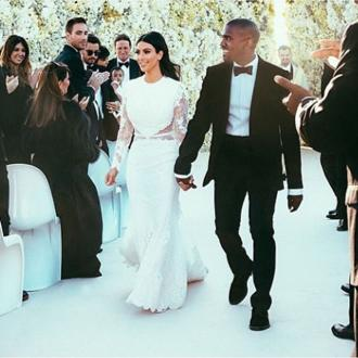 Kim Kardashian Shares Wedding Photos