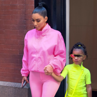 Kim Kardashian West's daughters model SKIMS Cozy Kids collection