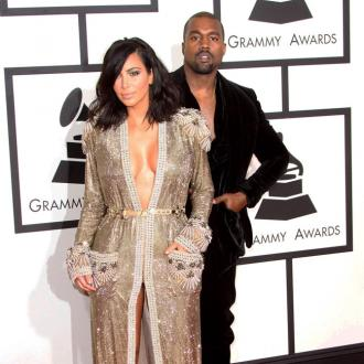 Kim Kardashian West suffers wardrobe malfunction before Grammys