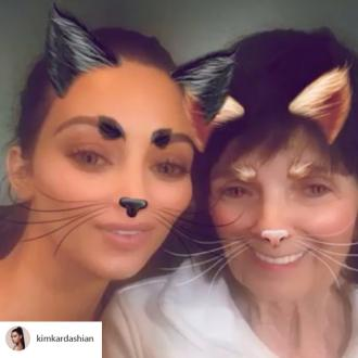 Kim Kardashian West's grandmother spies on her via a 'secret' Instagram account