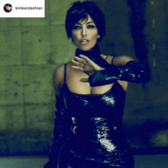 Kim Kardashian West dresses up as Kris Jenner