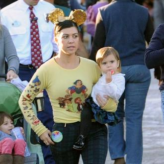 Kourtney Kardashian At Disneyland With Family