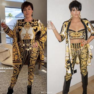 Khloe Kardashian recreates Kris Jenner's look