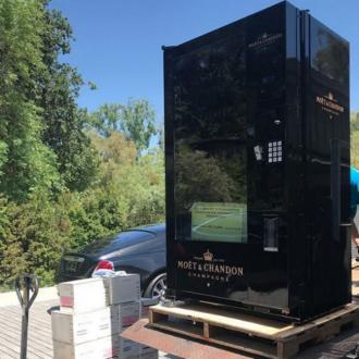 Chrissy Teigen Sent Kris Jenner Champagne Vending Machine