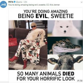 PETA blast 'evil' Kris Jenner
