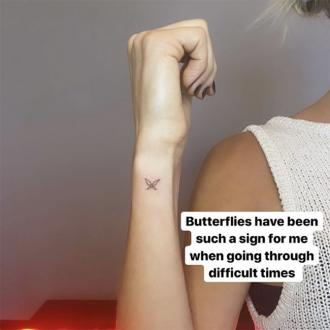Kristin Cavallari's butterfly tattoo