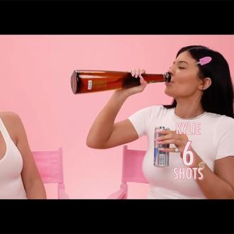 Kylie Jenner and Khloe Kardashian do drunk make-up